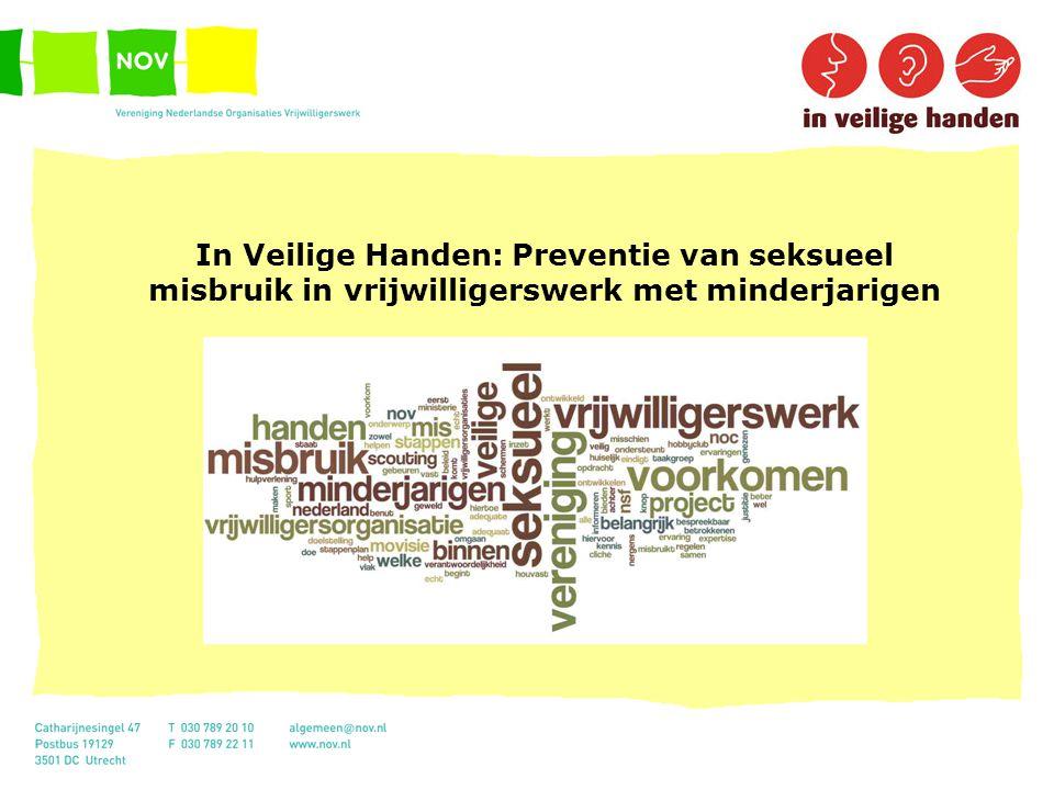In Veilige Handen: Preventie van seksueel misbruik in vrijwilligerswerk met minderjarigen