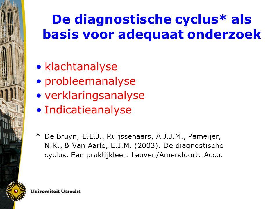 De diagnostische cyclus* als basis voor adequaat onderzoek