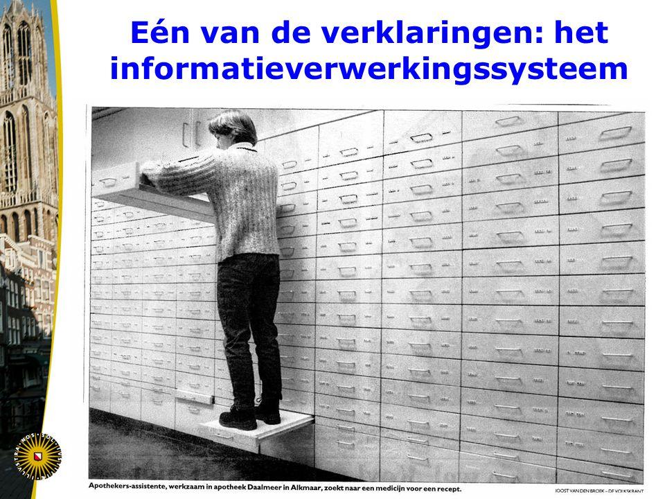 Eén van de verklaringen: het informatieverwerkingssysteem