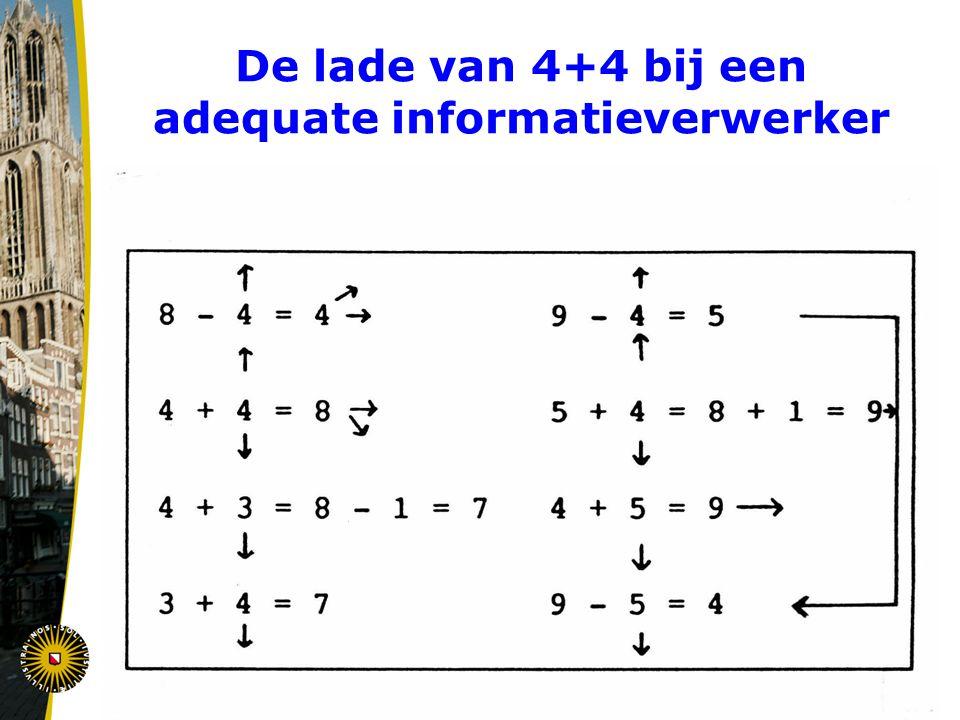 De lade van 4+4 bij een adequate informatieverwerker