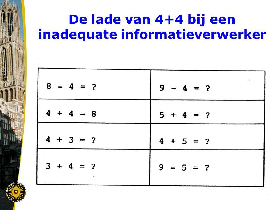 De lade van 4+4 bij een inadequate informatieverwerker