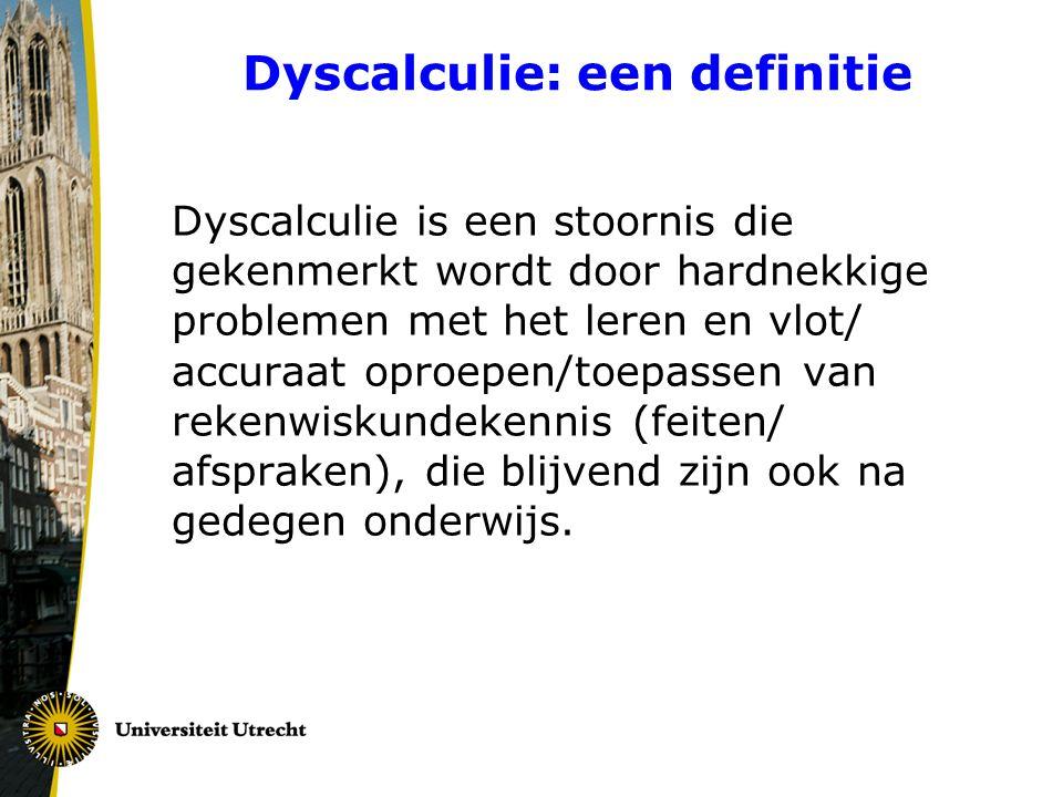 Dyscalculie: een definitie