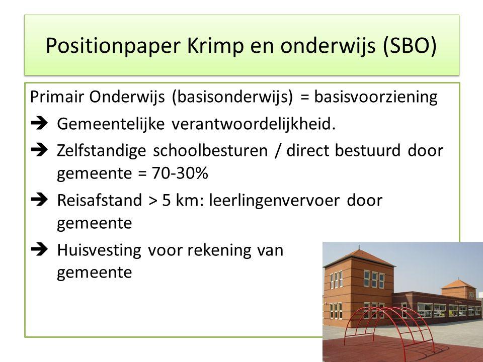 Positionpaper Krimp en onderwijs (SBO)
