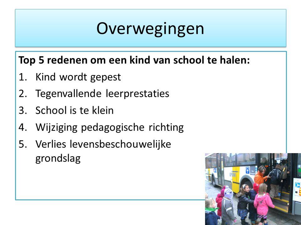 Overwegingen Top 5 redenen om een kind van school te halen: