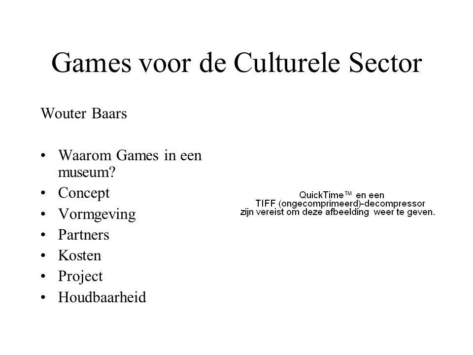 Games voor de Culturele Sector