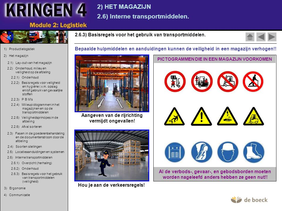 2.6) Interne transportmiddelen.