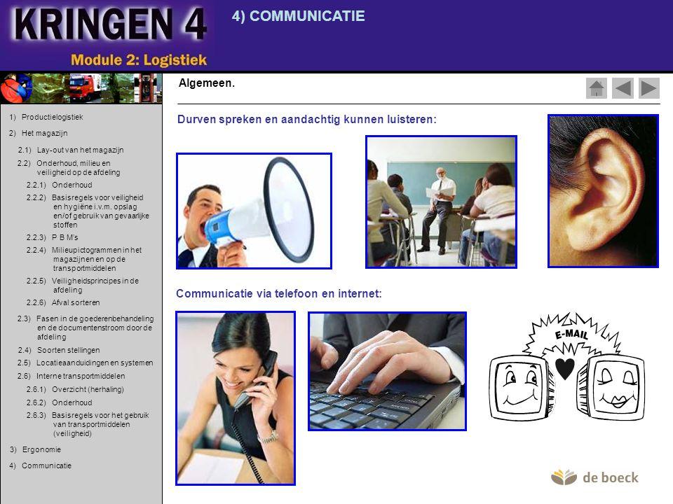4) COMMUNICATIE Algemeen.