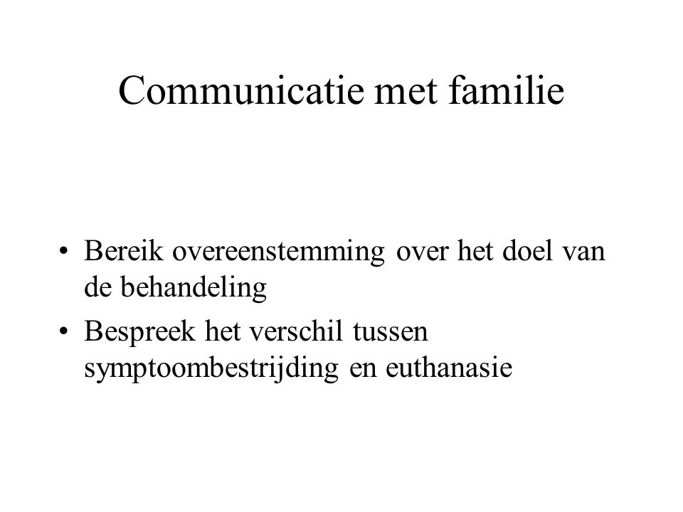 Communicatie met familie