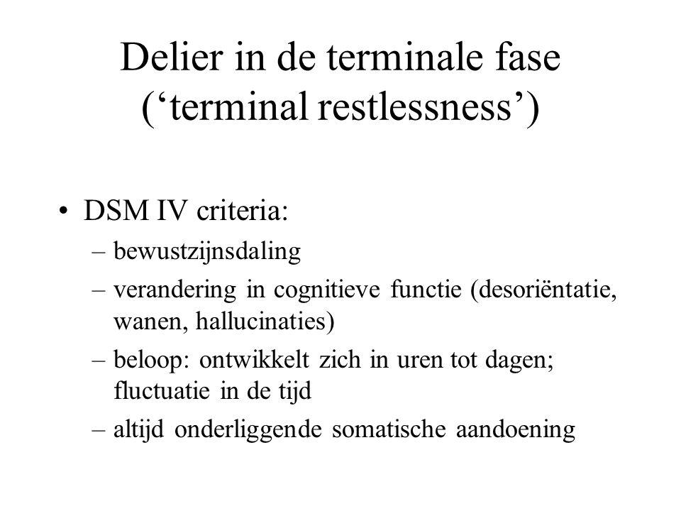 Delier in de terminale fase ('terminal restlessness')