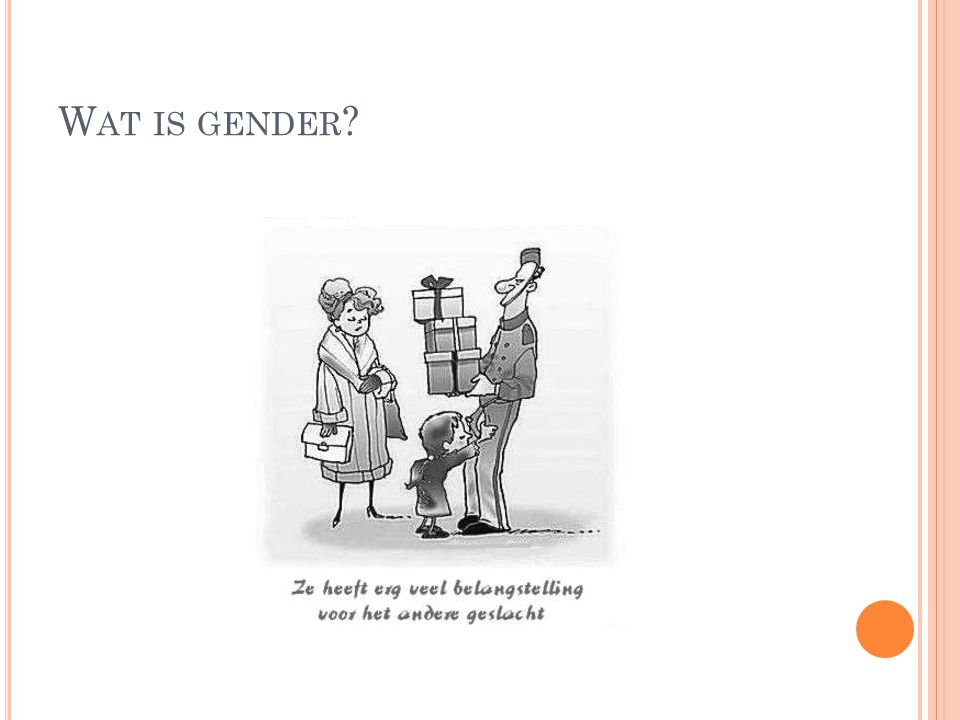 Wat is gender