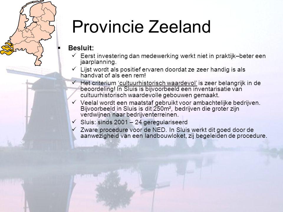 Provincie Zeeland Besluit:
