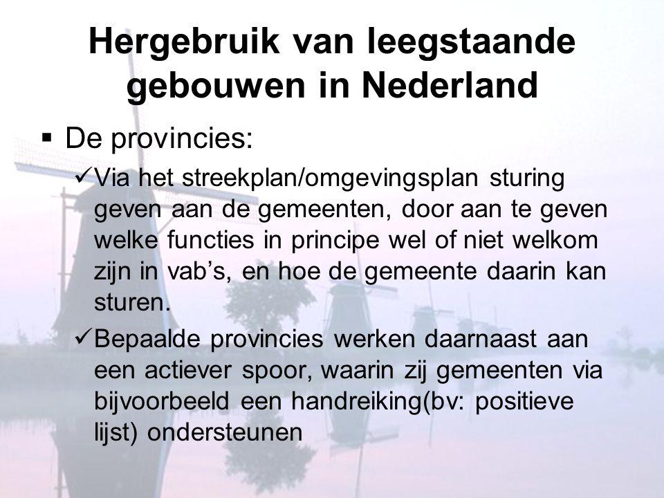 Hergebruik van leegstaande gebouwen in Nederland