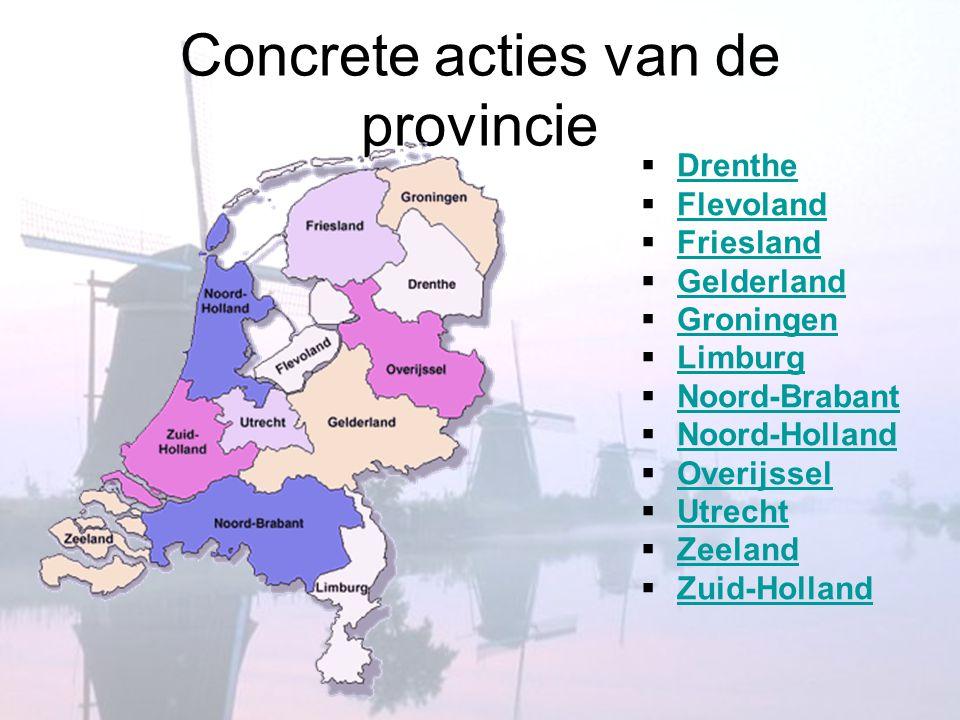 Concrete acties van de provincie
