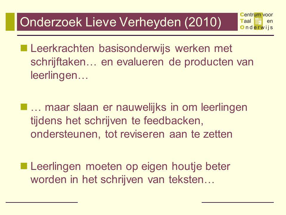 Onderzoek Lieve Verheyden (2010)