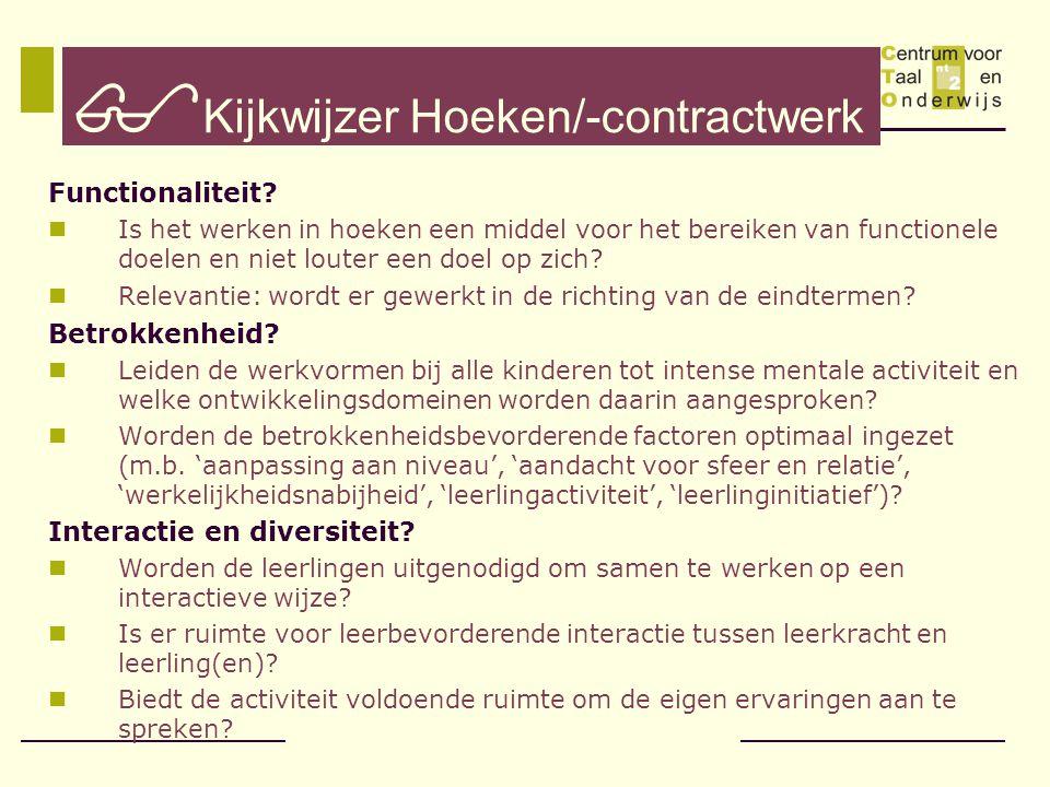 Kijkwijzer Hoeken/-contractwerk