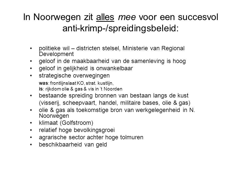 In Noorwegen zit alles mee voor een succesvol anti-krimp-/spreidingsbeleid: