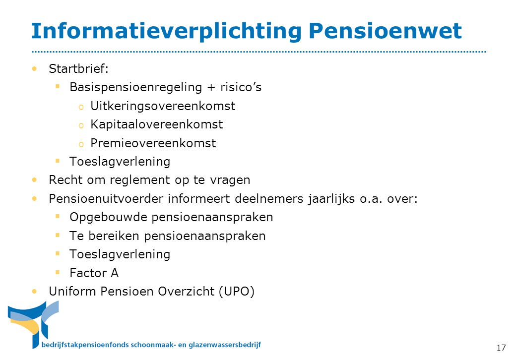 Informatieverplichting Pensioenwet