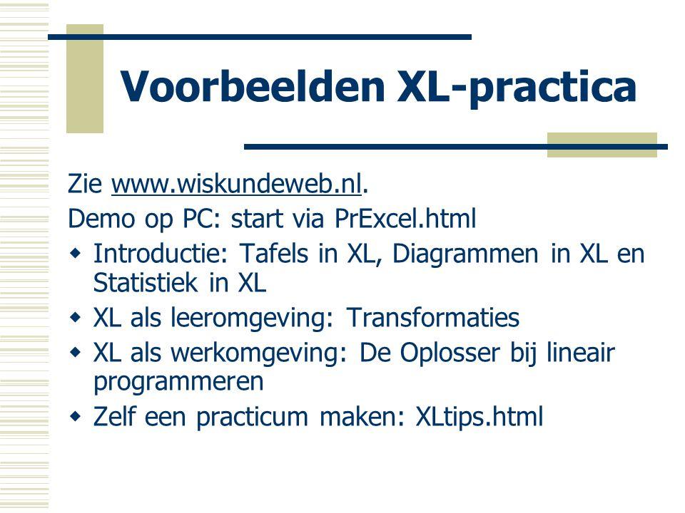 Voorbeelden XL-practica