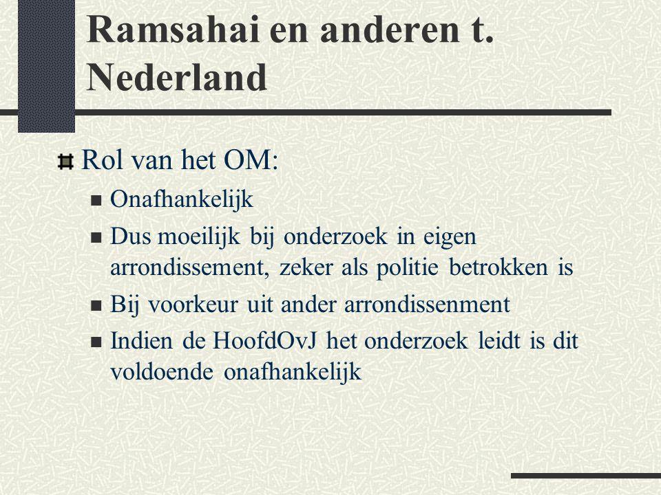 Ramsahai en anderen t. Nederland