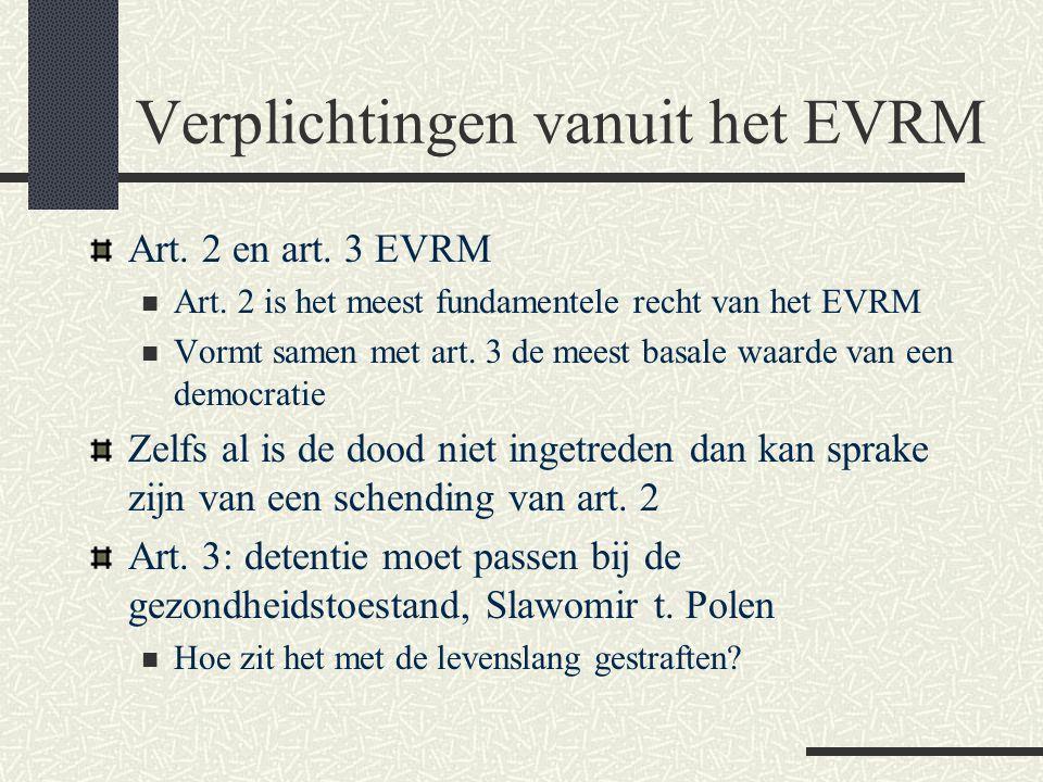 Verplichtingen vanuit het EVRM