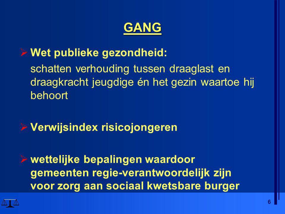GANG Wet publieke gezondheid: