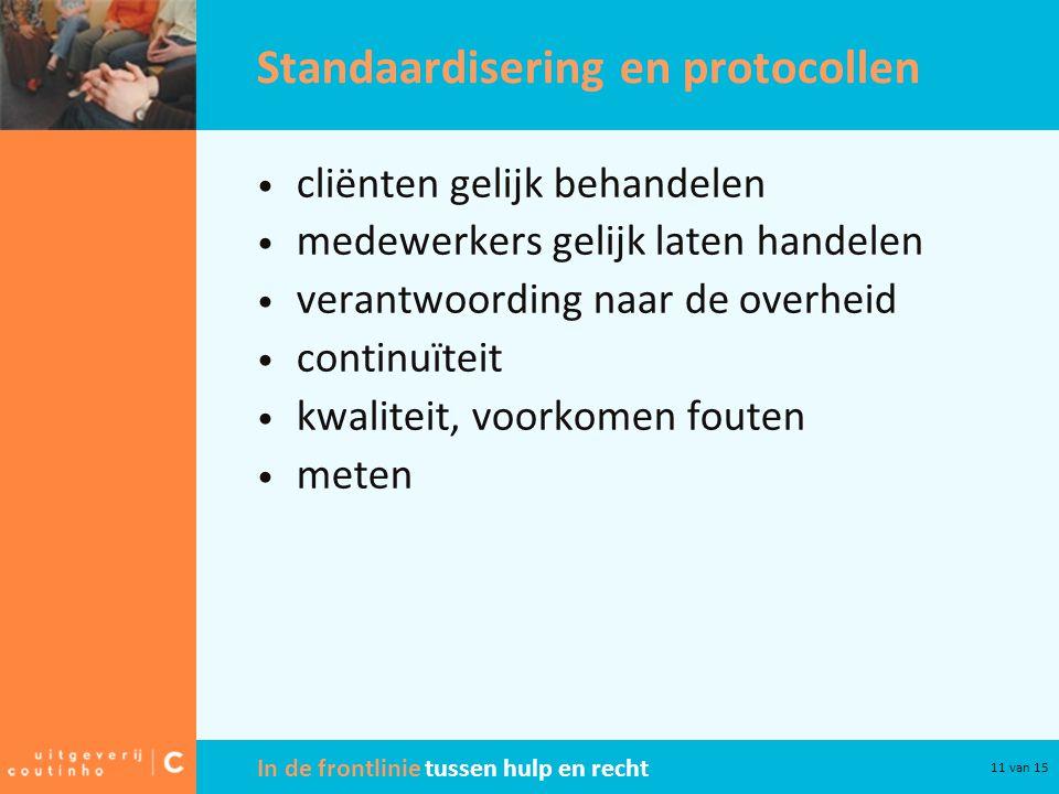 Standaardisering en protocollen