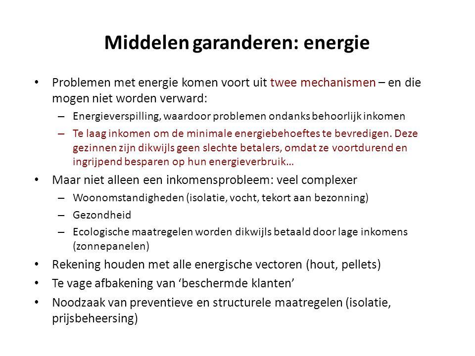Middelen garanderen: energie