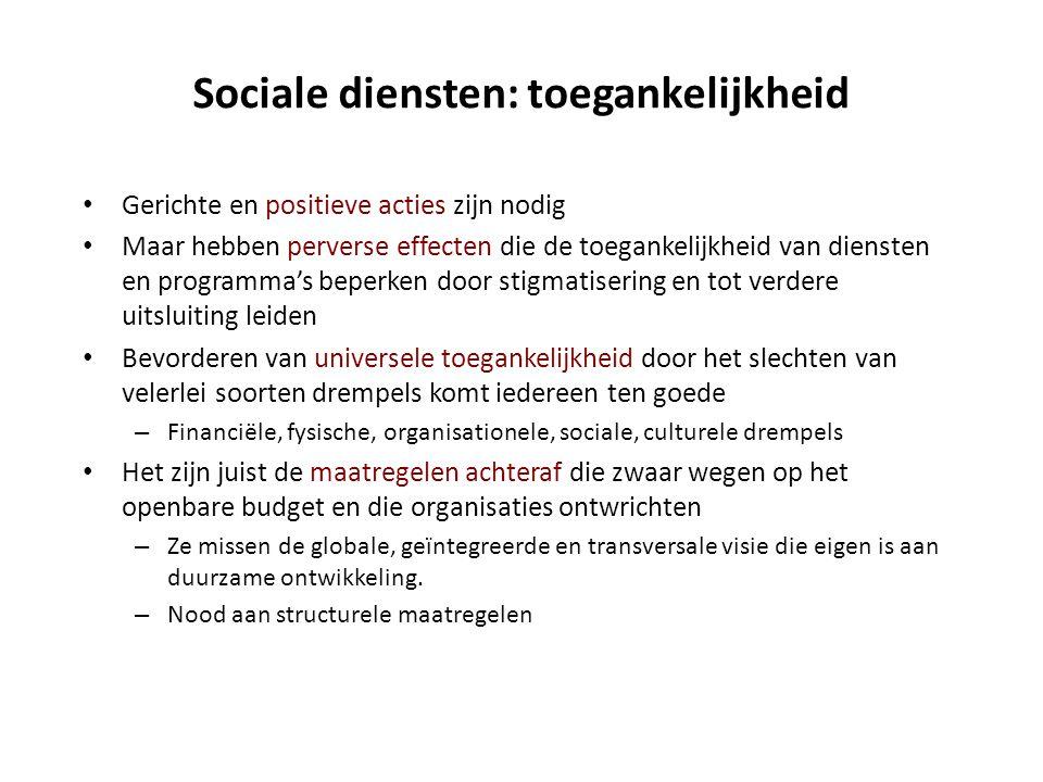 Sociale diensten: toegankelijkheid