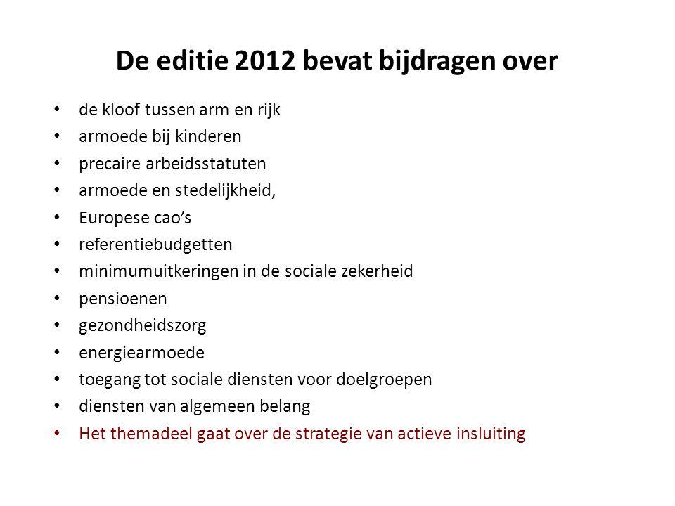 De editie 2012 bevat bijdragen over