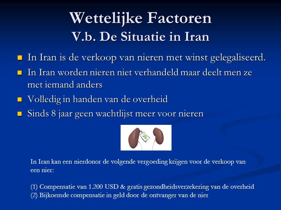 Wettelijke Factoren V.b. De Situatie in Iran