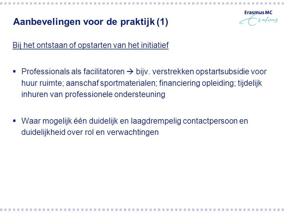 Aanbevelingen voor de praktijk (1)