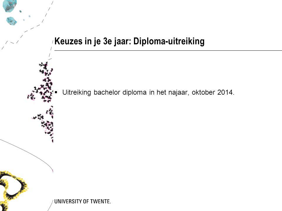 Keuzes in je 3e jaar: Diploma-uitreiking