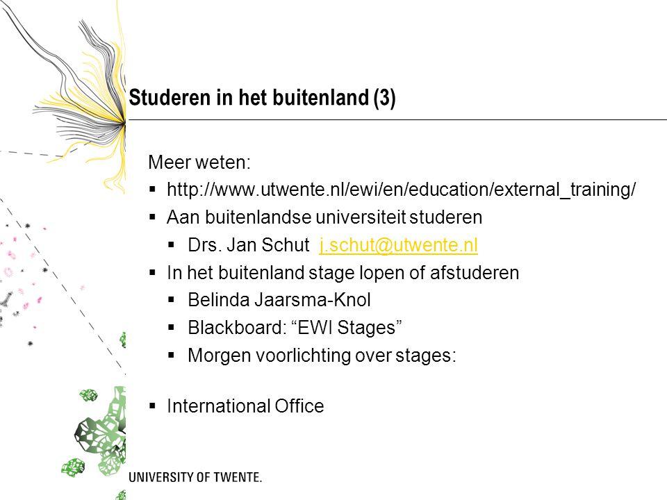 Studeren in het buitenland (3)