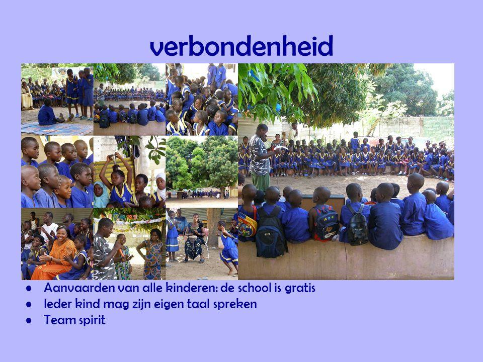 verbondenheid Aanvaarden van alle kinderen: de school is gratis