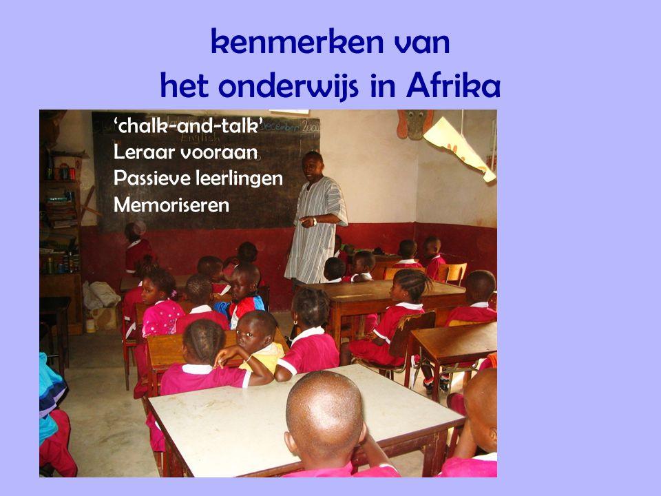 kenmerken van het onderwijs in Afrika