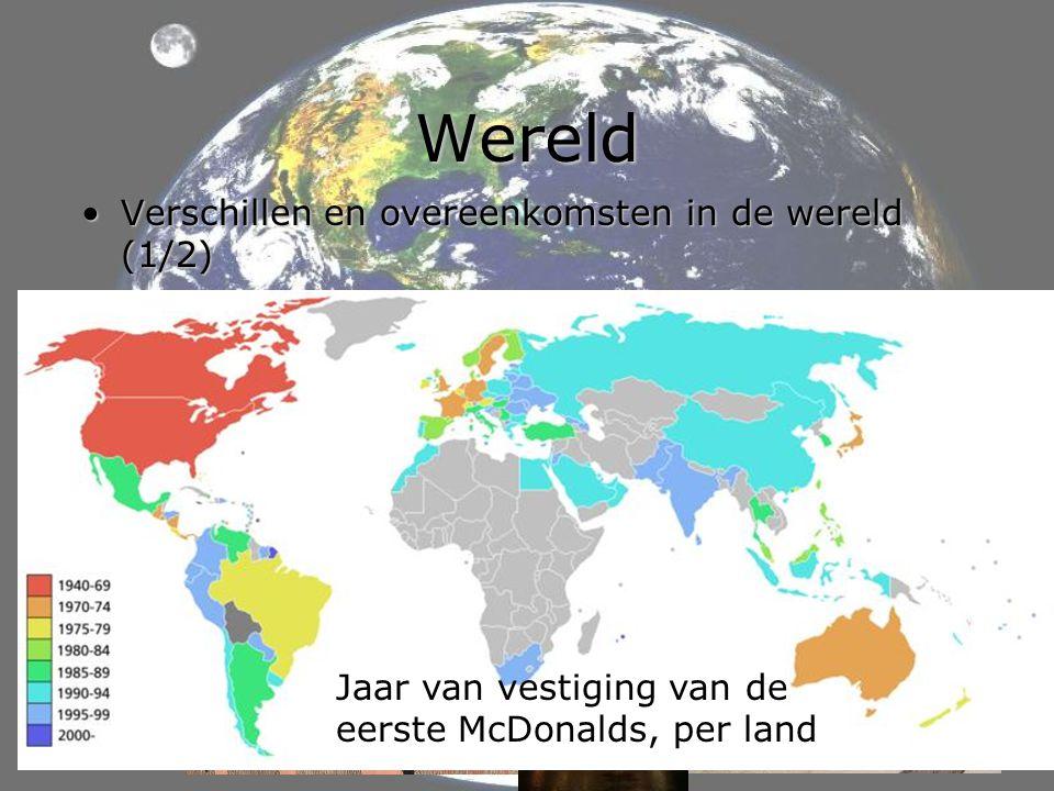 Wereld Verschillen en overeenkomsten in de wereld (1/2)