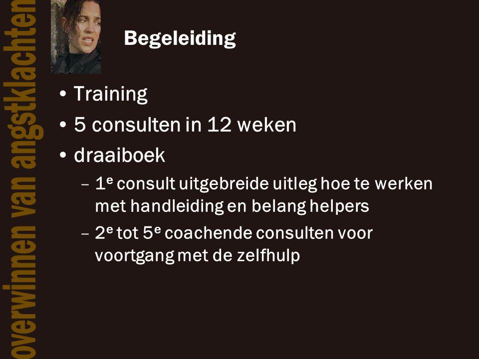 Begeleiding Training 5 consulten in 12 weken draaiboek