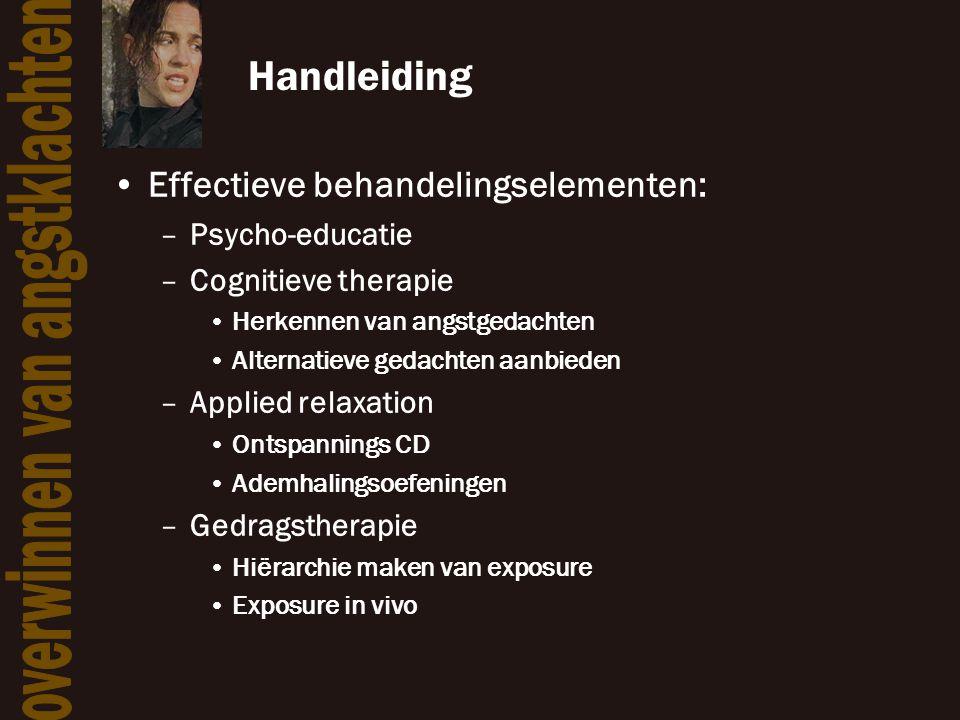 Handleiding Effectieve behandelingselementen: Psycho-educatie