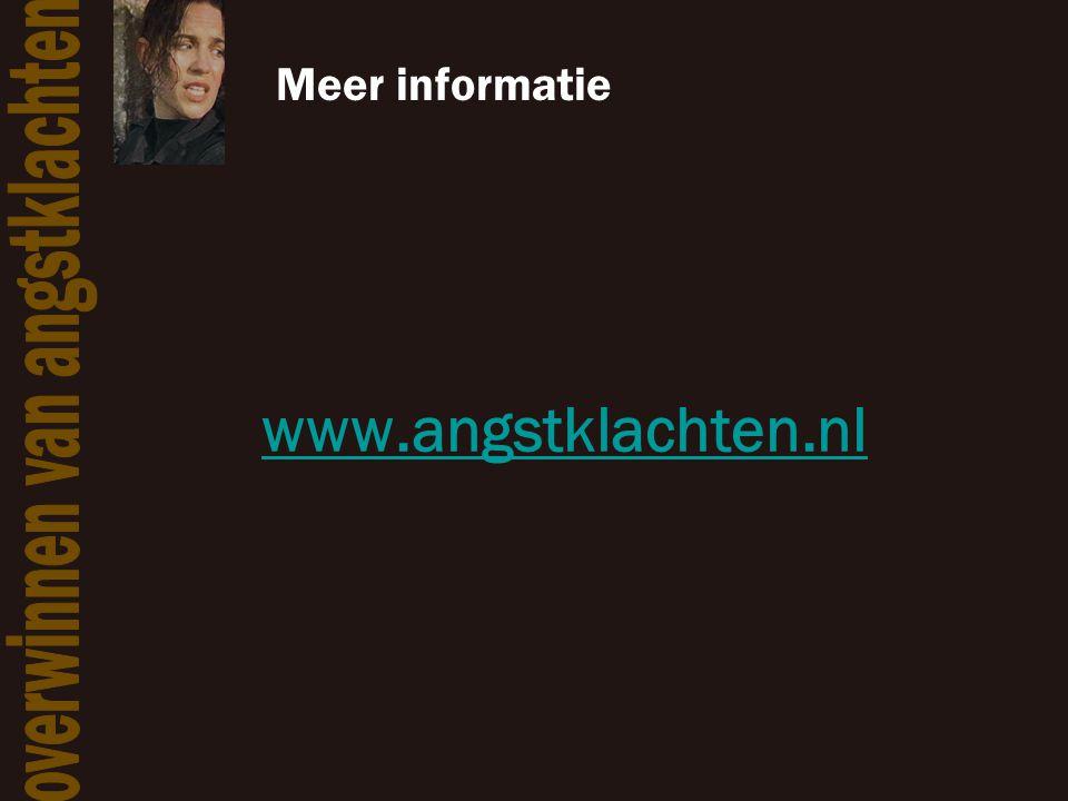 Meer informatie www.angstklachten.nl