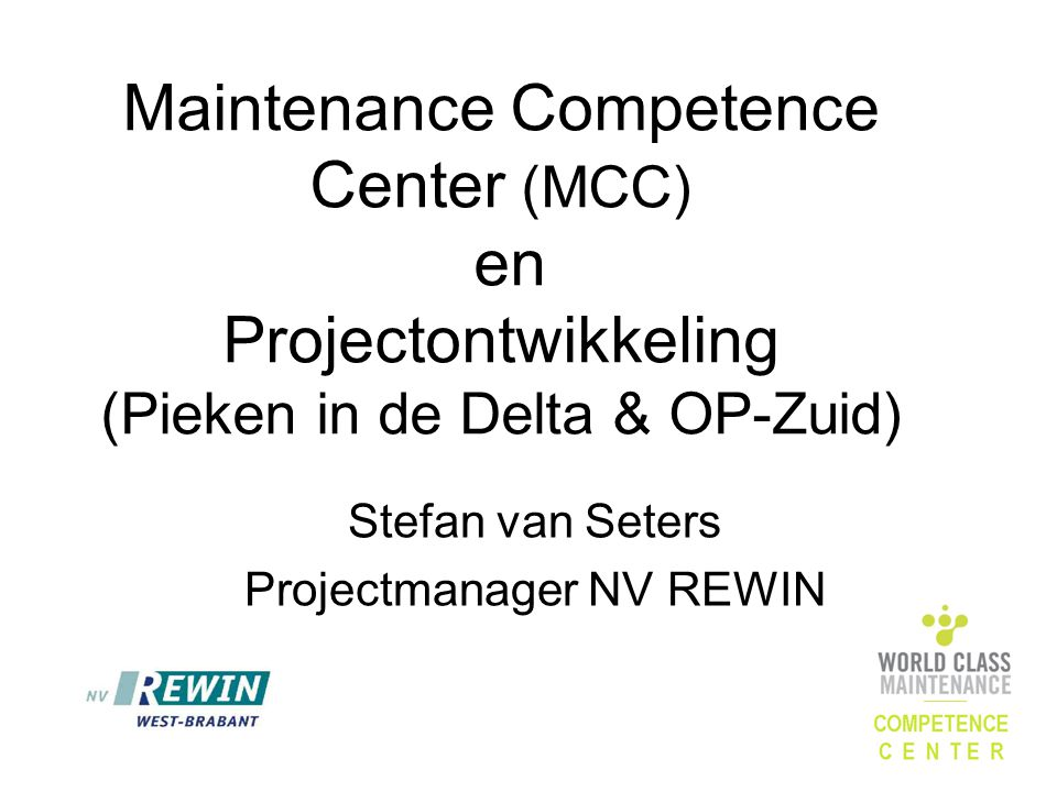 Stefan van Seters Projectmanager NV REWIN