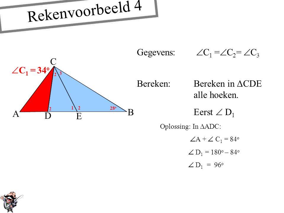 Rekenvoorbeeld 4 Gegevens: C1 =C2= C3 C