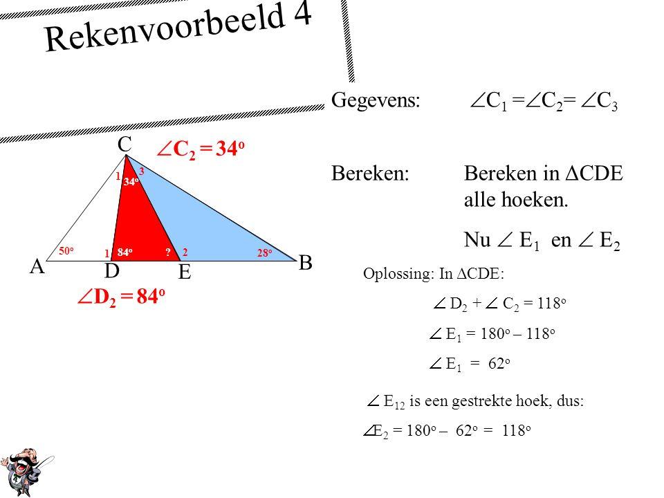 Rekenvoorbeeld 4 Gegevens: C1 =C2= C3