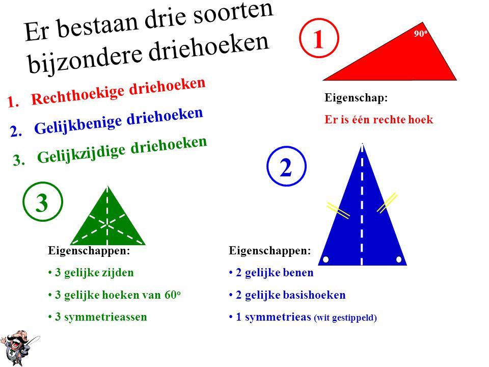 Er bestaan drie soorten bijzondere driehoeken 1
