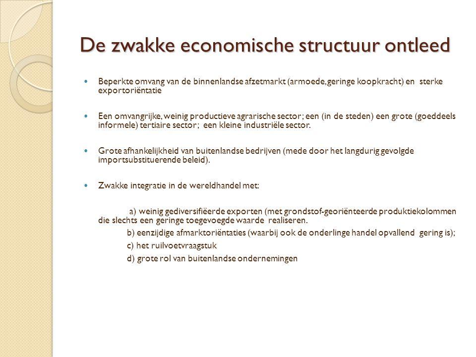 De zwakke economische structuur ontleed
