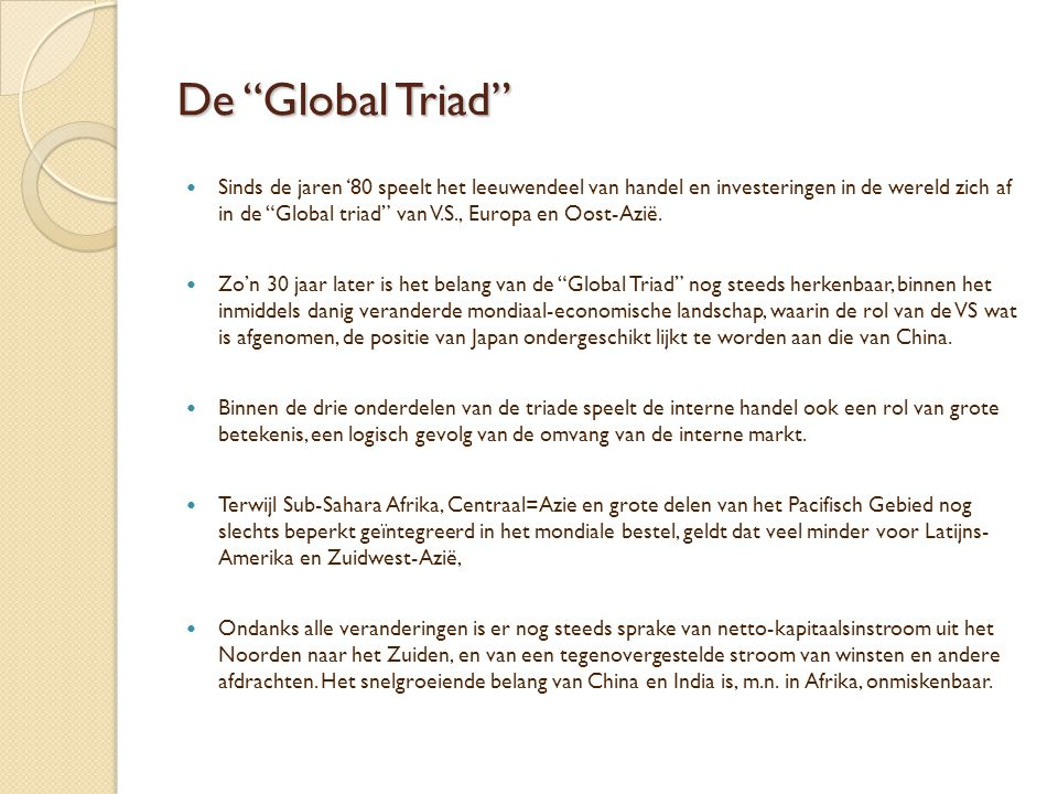 De Global Triad
