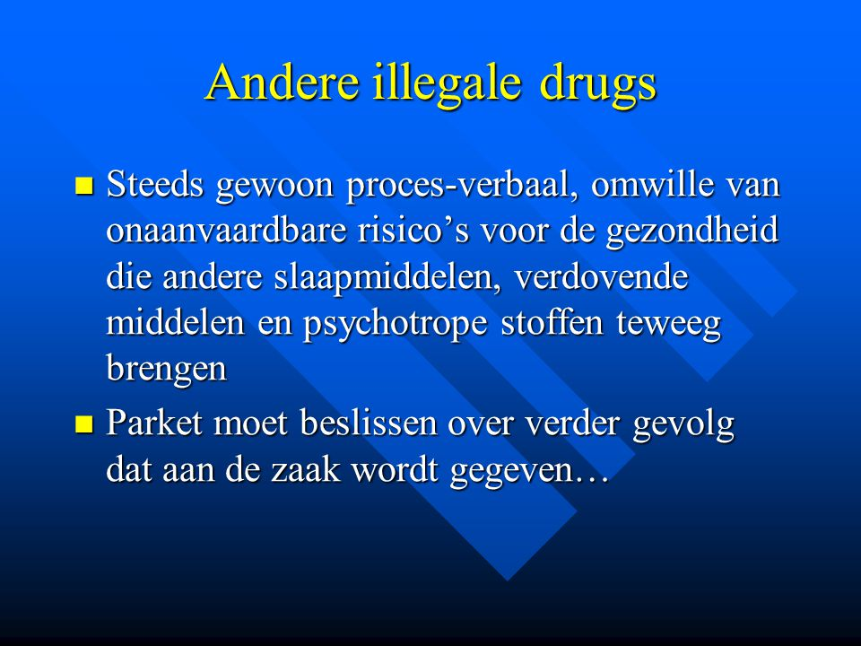 Andere illegale drugs