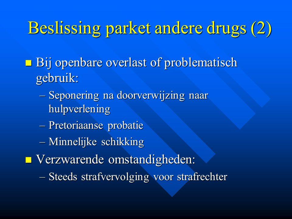 Beslissing parket andere drugs (2)