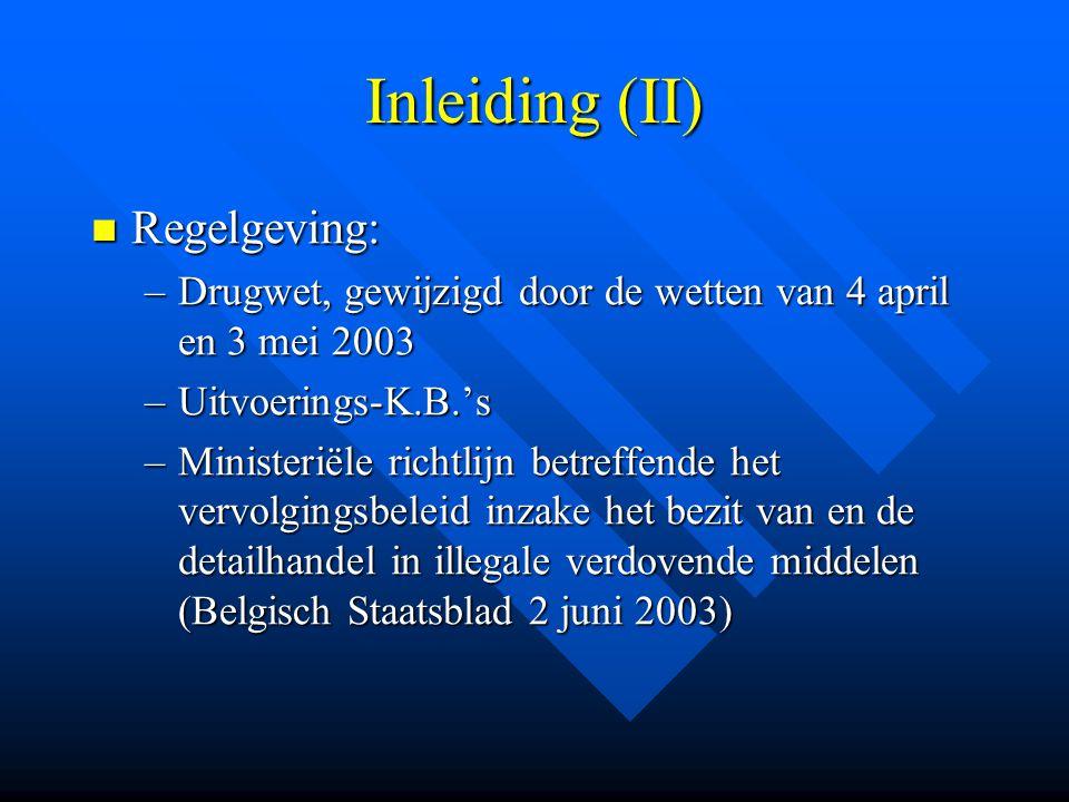 Inleiding (II) Regelgeving: