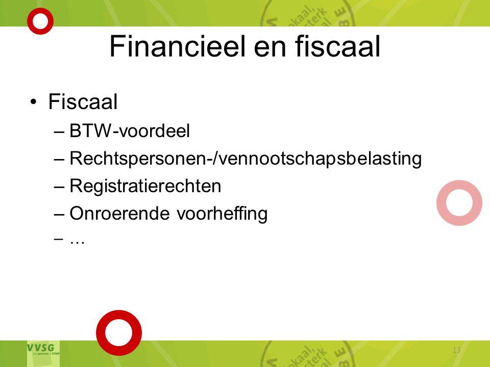 Financieel en fiscaal Fiscaal BTW-voordeel