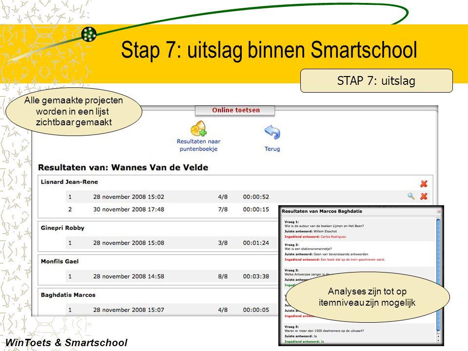 Stap 7: uitslag binnen Smartschool